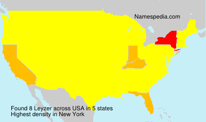 Surname Leyzer in USA