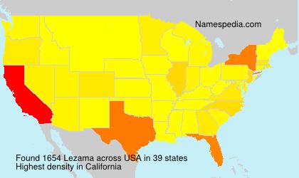 Surname Lezama in USA