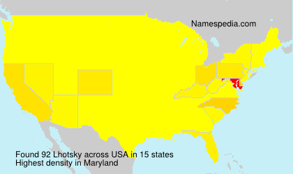 Surname Lhotsky in USA