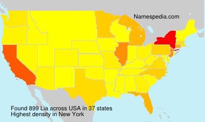 Surname Lia in USA