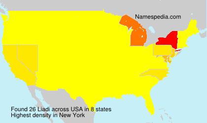 Surname Liadi in USA