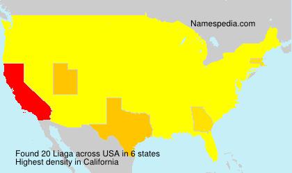 Surname Liaga in USA