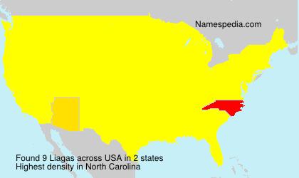 Surname Liagas in USA