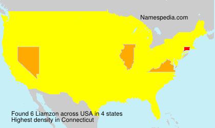Surname Liamzon in USA