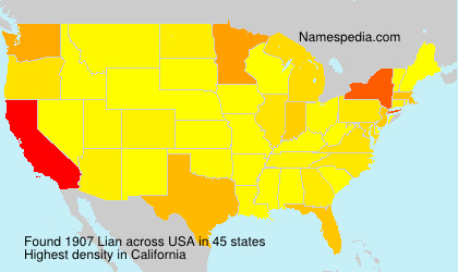 Surname Lian in USA