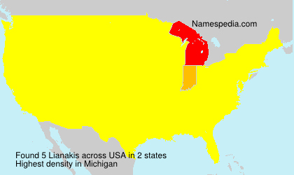 Surname Lianakis in USA