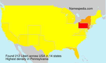 Surname Liberi in USA