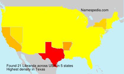 Surname Libranda in USA