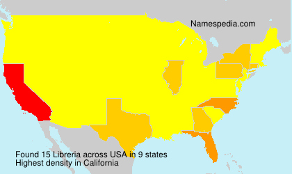 Surname Libreria in USA