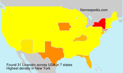 Surname Licandro in USA