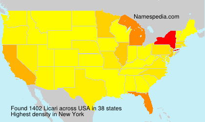 Surname Licari in USA