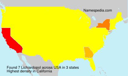 Surname Lichiardopol in USA
