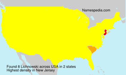 Surname Lichnowski in USA