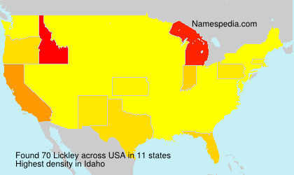 Surname Lickley in USA