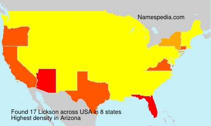 Surname Lickson in USA