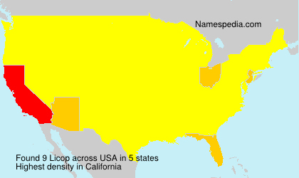Surname Licop in USA