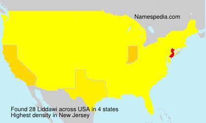 Surname Liddawi in USA