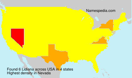 Surname Lidiana in USA