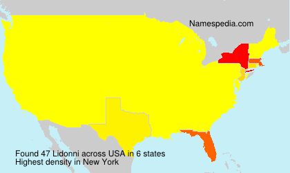 Surname Lidonni in USA