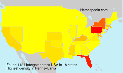 Surname Liebegott in USA