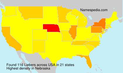 Surname Liebers in USA