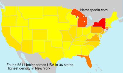 Surname Liebler in USA