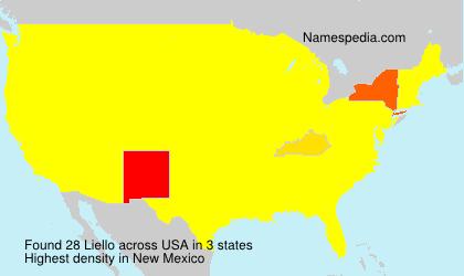 Familiennamen Liello - USA