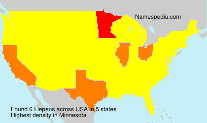 Surname Liepens in USA