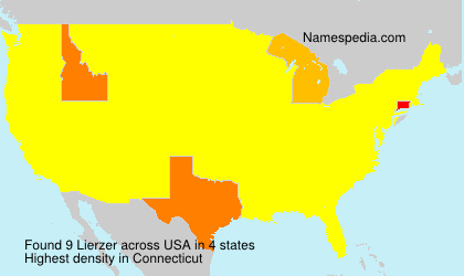 Surname Lierzer in USA