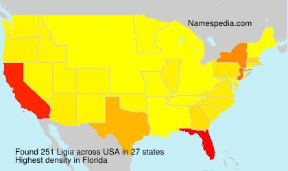 Familiennamen Ligia - USA