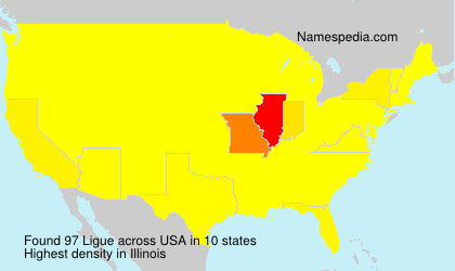 Surname Ligue in USA