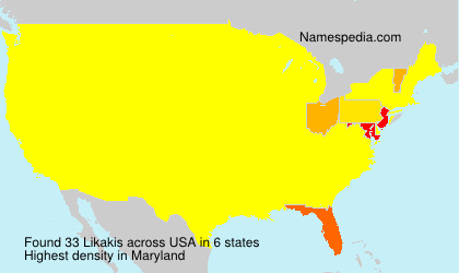 Surname Likakis in USA