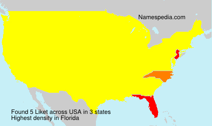 Surname Liket in USA