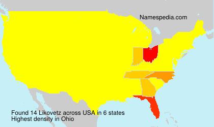 Surname Likovetz in USA
