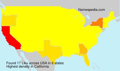 Surname Liku in USA