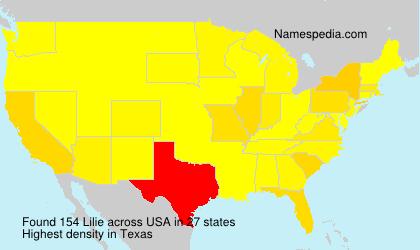 Familiennamen Lilie - USA