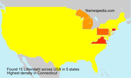 Familiennamen Lilliendahl - USA