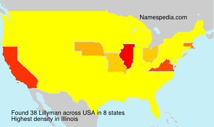 Surname Lillyman in USA