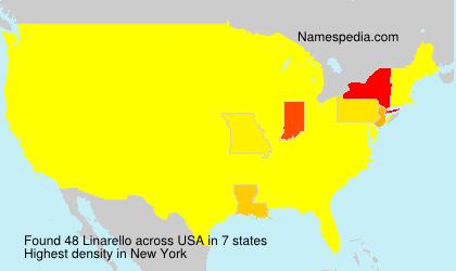 Surname Linarello in USA