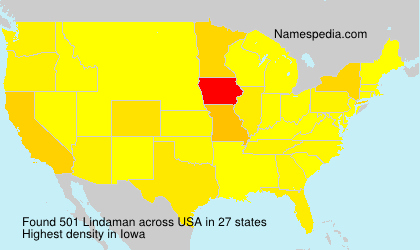 Surname Lindaman in USA