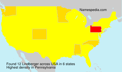 Surname Lindberger in USA
