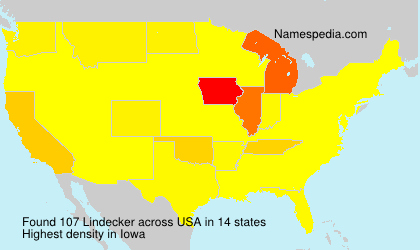 Surname Lindecker in USA