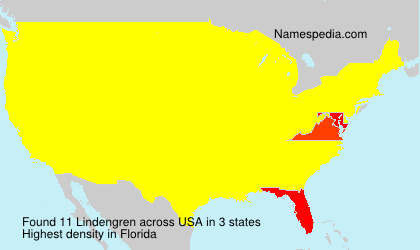 Surname Lindengren in USA