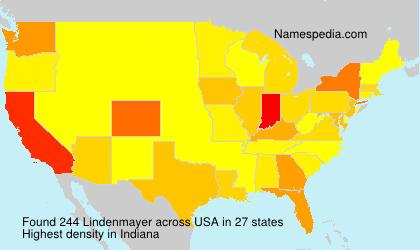 Familiennamen Lindenmayer - USA