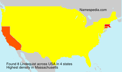 Surname Lindequist in USA