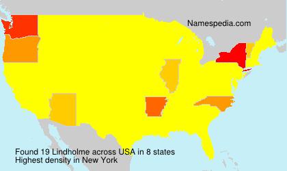 Familiennamen Lindholme - USA