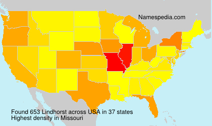 Surname Lindhorst in USA