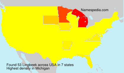 Surname Lingbeek in USA