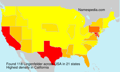 Surname Lingenfelder in USA