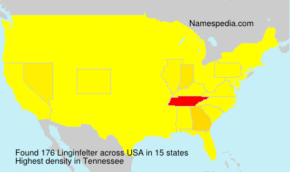 Surname Linginfelter in USA